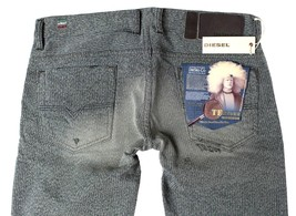 Diesel Men's Premium Denim Regular Slim Straight Designer Jeans Safado 0807M