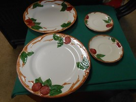 """-Magnificent FRANCISCAN  """"Apple"""" Pattern .. 2 DINNER Plate & 2 FREE Saucers - $10.80"""