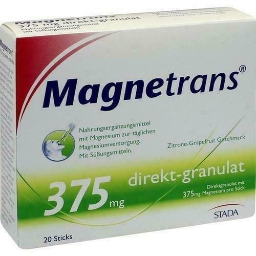 MAGNETRANS - DIRECT GRANULATE - MAGNESIUM - REDUCE STRESS - 375 mg - 20 BAGS - $26.00