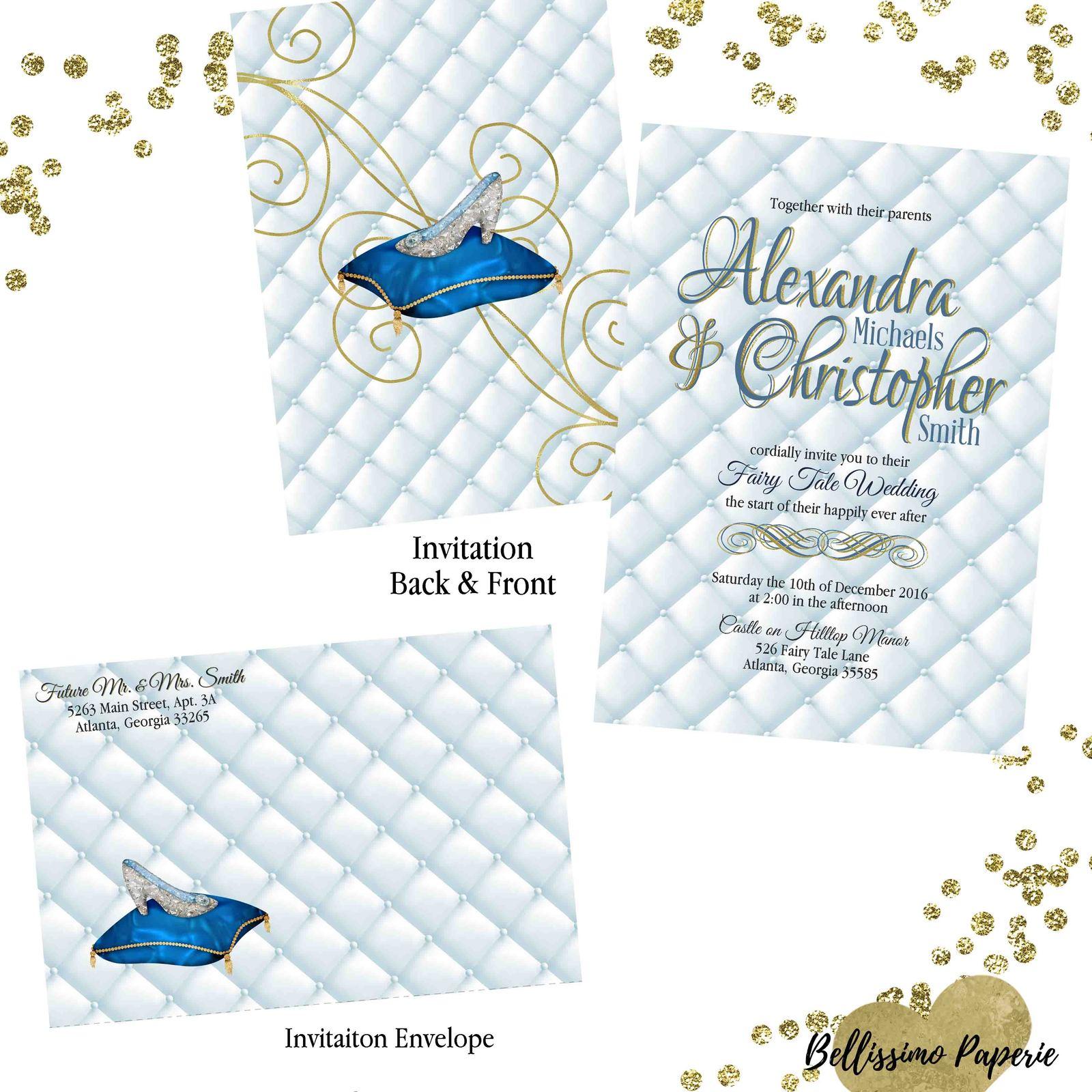 Cinderella Inspired Wedding invitation Set and 50 similar items