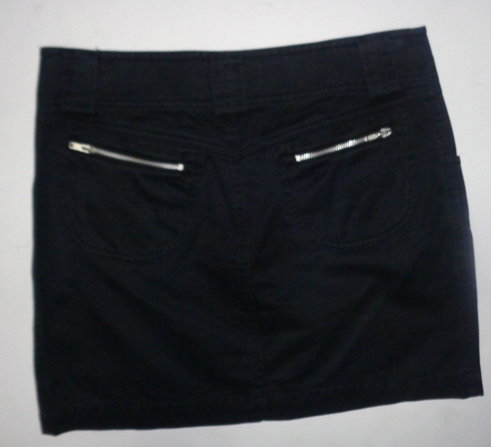 Armani Black Fashion Mini Jean Skirt Zippered SZ 0