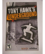 Playstation 2 - TONY HAWK'S UNDERGROUND (Replacement Manual) - $8.00