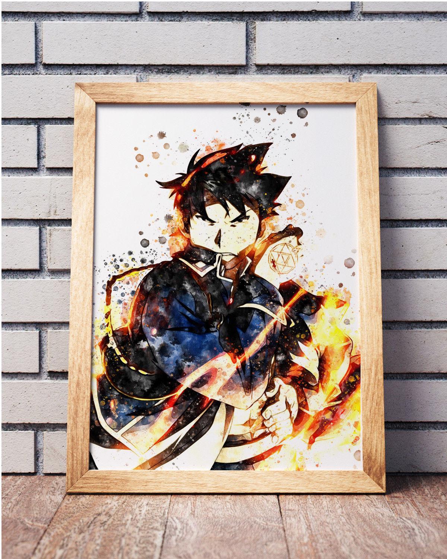 Fullmetal Alchemist Anime Poster Manga Art Wall Home Decor ...