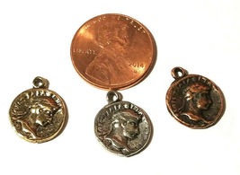Ancient Coin Fine Pewter Charm - 2x15x12mm image 3