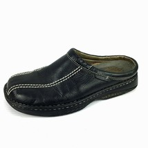 "MERRELL ""World Outlook"" Air Cushion Black Full Grain Leather Mules Size ... - $44.54"