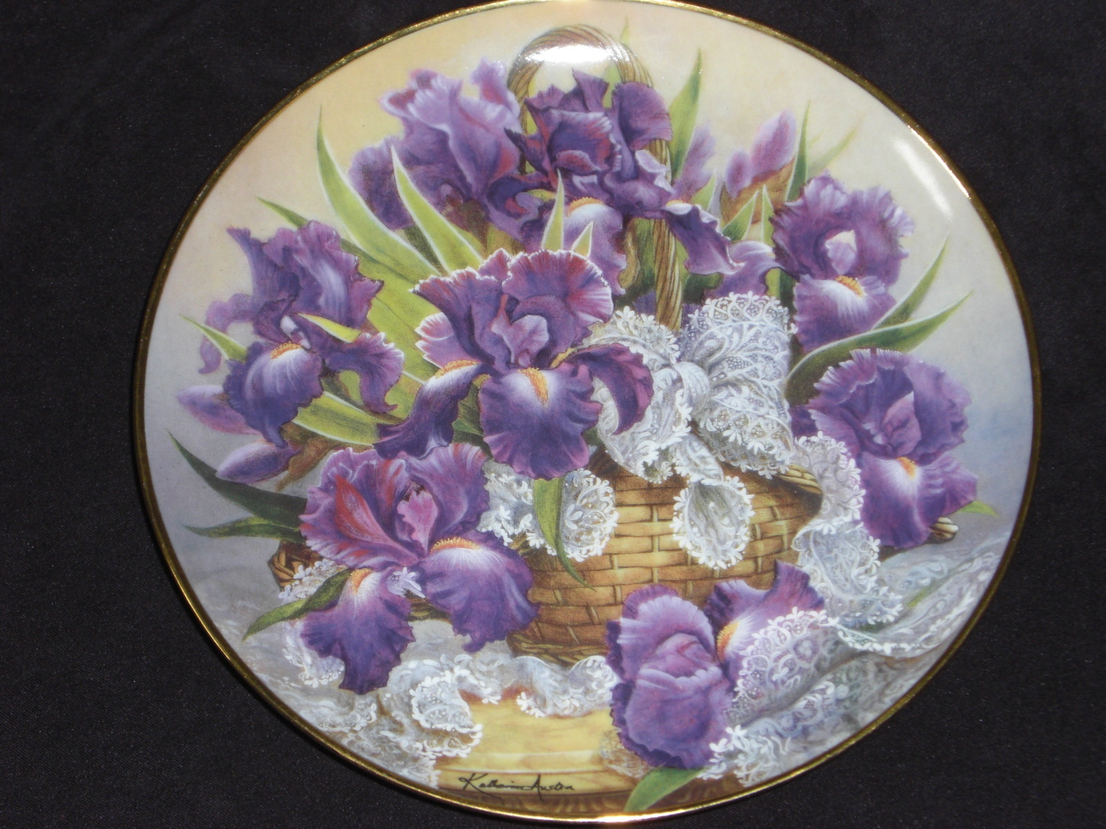 Rare FRANKLIN MINT Mogambo IRIS Plate Katherine Austen Limited Edition