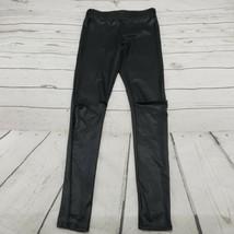 Wet Seal Pants Size Medium Leggings Skinny Open Knee Womens Black Used C... - $24.74