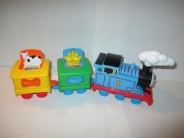 2014 Mattel Thomas The Train Pop Up Toy w/ 2 Cars & Pop-up Farm Animals - $7.91