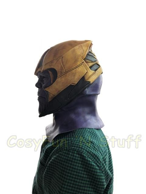 New Endgame Thanos Mask Infinity War Avengers EndGame Costume Mask Handmade image 3