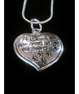 """""""Pets Leave Paw Prints on Our Hearts"""" Sterling Silver Pendant Necklace - $8.99"""