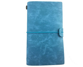 Leather Travelers Notebook Blue Blank Notebook Planner Journal With Acce... - $41.13