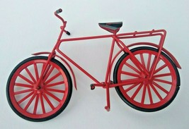 """Miniature Red Metal Bicycle Rubber Plastic Tires 5.75"""" x 3.5"""" Doll House - $14.71"""