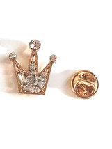 Regal Golden crystal Crown Design  / tie pin,lapel pin, badge