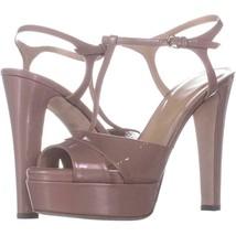 Sergio Rossi A77690 T-Strap Sandals 105, Soft Bright Skin, 8.5 US / 38.5 EU - $270.71