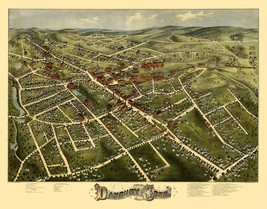 Danbury Connecticut - Bailey 1875 - 23.00 x 29.36 - $36.58+