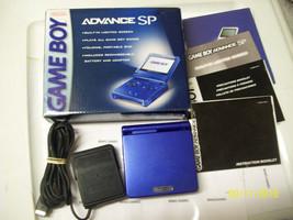 Nintendo GameBoy Advance SP Cobalt Blue Handheld System  IN ORIGINAL BO... - $79.99