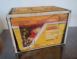 Vintage Thermos Compact Size Sunpacker cooler 11 qt. Yellow model 7713 B... - $39.59