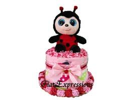 Ladybug Mini Diaper Cake Baby Shower Gift & Centerpiece - $28.00+