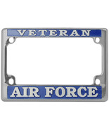 NEW USAF U.S. Air Force Veteran License Plate Frame for Motorcycles. - $18.99