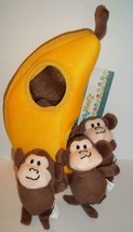 Zippy Burrows Monkey 'N Banana Interactive Squeaky Hide & Seek Puzzle Do... - £13.26 GBP