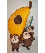 Zippy Burrows Monkey 'N Banana Interactive Squeaky Hide & Seek Puzzle Do... - $18.42