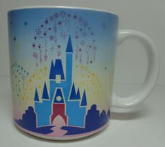 Vtg Walt Disney World Coffee Mug Mickey Cinderella's Castle Cup Ceramic Glass - $19.79