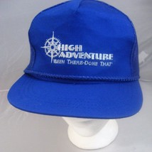 """High Adventure Blue Snap Back Mesh Hat """"Been There Done That"""" Cap Yupoon... - $5.53"""