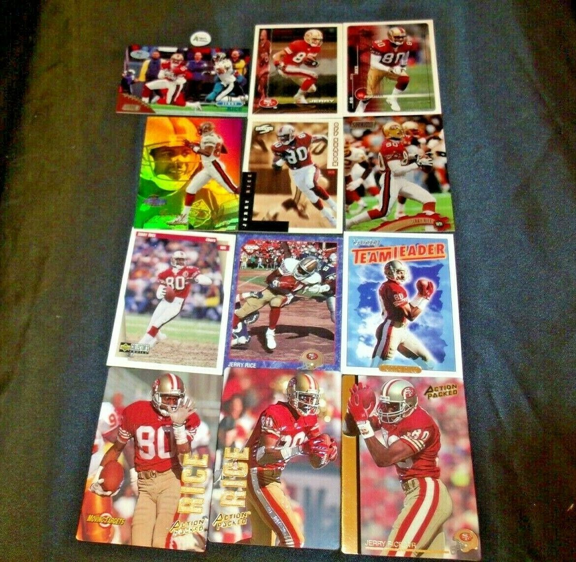 San Francisco 49er's Jerry Rice #80 Football Trading Cards AA-191805 Vintage Co