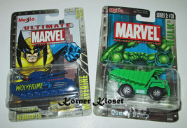 Lot of 2 Maisto Ultimate Marvel Cars - Wolverine Tank & Quarry Dump Truc... - $18.33