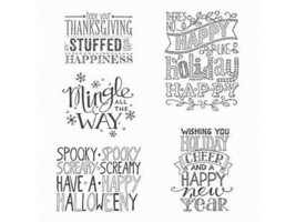 Stampin' Up! Mingle All the Way Rubber Cling Stamp Set #135773