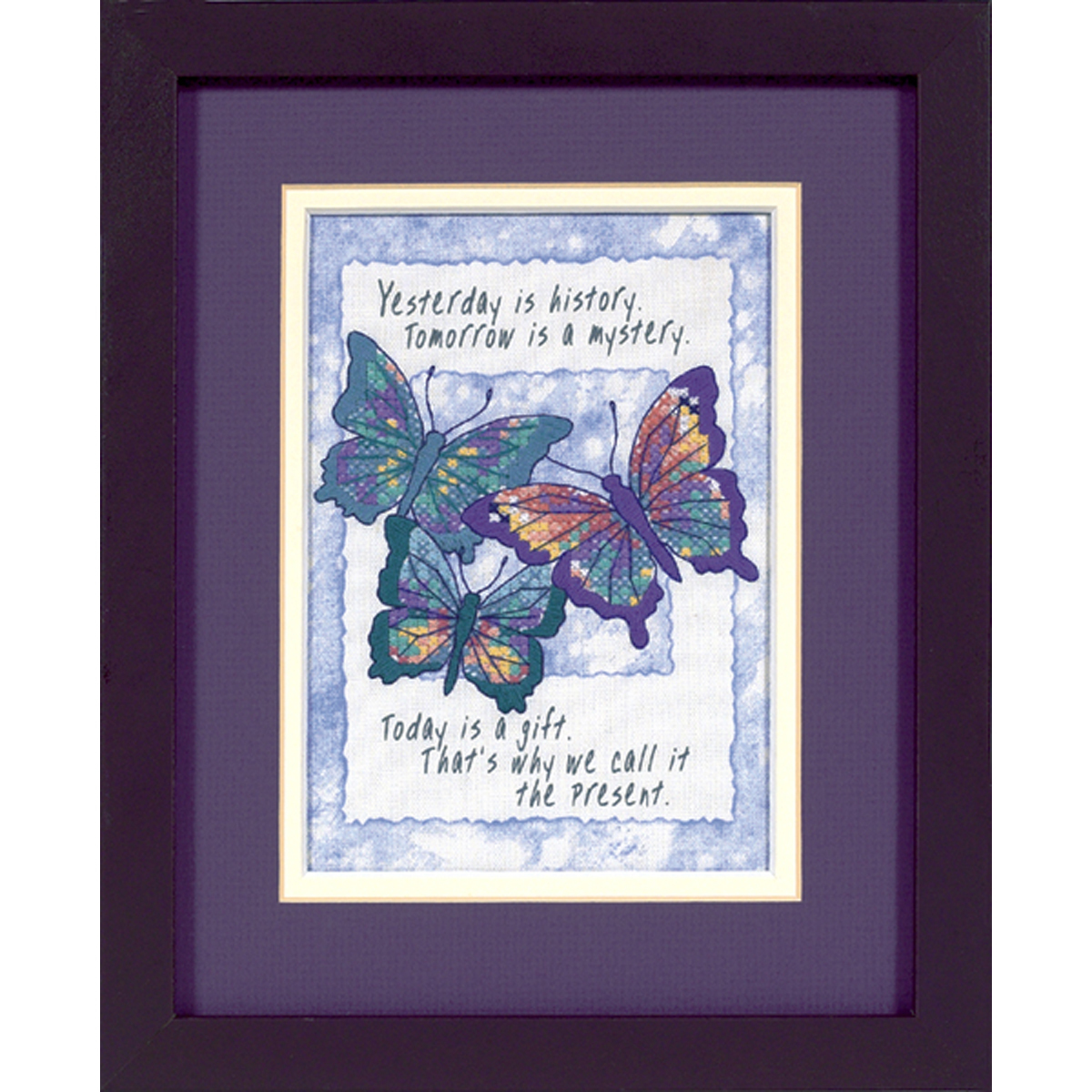 """Dimensions/Jiffy Mini Stamped Cross Stitch Kit 5""""X7""""-Today Is A Gift - $13.92"""