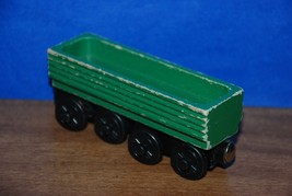 Thomas and Friends Wooden Railway Log Car Sawmill Green 2000 RARE - $10.95