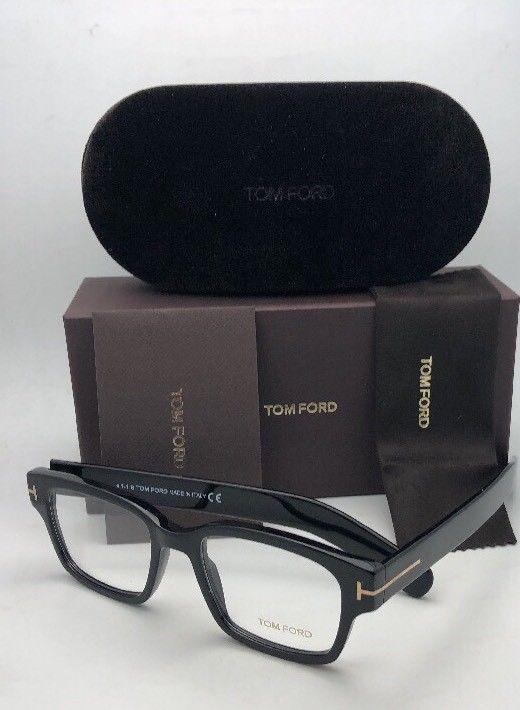 4ba0584c5d14 New TOM FORD Eyeglasses TF 5527 001 50-18 145 Black   Gold Frame w