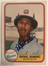 Rafael Ramirez Signed Autographed 1981 Fleer Baseball Card - Atlanta Braves - $5.93