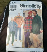 Simplicity 7996 Pull On Pants Unlined Coat Variations Chest Sz 42 44 46 ... - $14.00