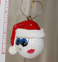 Golf Ball Christmas Ornament Collectibles Set of 2 Santa Golf Ornaments ... - £23.54 GBP