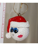 Golf Ball Christmas Ornament Collectibles Set of 2 Santa Golf Ornaments ... - £22.83 GBP
