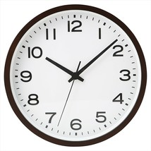 MUJI Wall hanging clock Plain Beech wood Dark Brown Analog Clock Quarts - $130.99