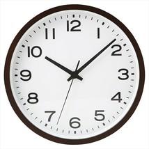 MUJI Wall hanging clock Plain Beech wood Dark Brown Analog Clock Quarts - €121,08 EUR