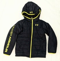 Boys Under Armour Winter Jacket Size 7 Black / Yellow Excellent Condition - $32.00