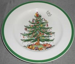 "Spode CHRISTMAS TREE PATTERN Green Trim 10 1/4"" DINNER PLATE England - $19.79"