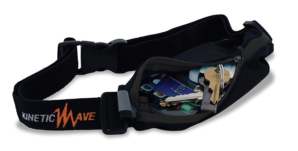 Running fuel belt with pouch waist bag by kineticwave walking cycling2