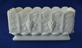 "Westmoreland Paneled Grape Milk Glass Planter 8 3/4"" x 4 3/4""  & 4 "" Tall  - $14.85"