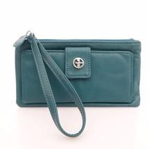 Giani Bernini Sandalwood Deep Green Grab & Go RFID Anti-Theft Wristlet W... - $19.79