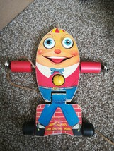 VINTAGE FISHER PRICE WOOD HUMPTY DUMPTY PULL TOY - $29.69