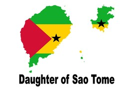 Daughter of Sao Tome Country Map Flag Poster High Quality  - $6.90+