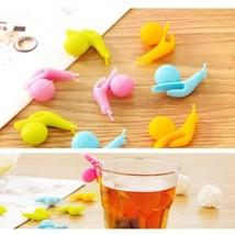 5Pcs/Lot Bar Kitchen Cup Clips Tea Bag Snail Shape Gadgets Silicone Mug ... - £1.21 GBP