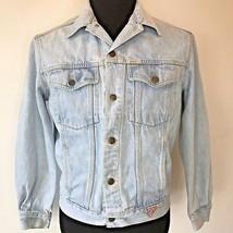 Vintage 1980s Guess Light Blue Denim Trucker Jacket Mens size M Marciano... - $39.95