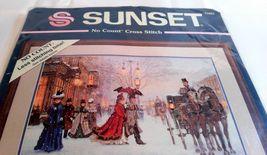Sunset Cross Stitch NEW Gracious Era Horses Carriage Sunset No count Kit 13923 - $34.99