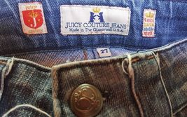 Woman's Juicy Couture Jeans Size 27 X 31 nice and distressed, (w3) image 4